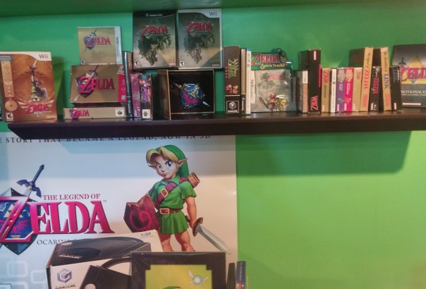 Some People have a trophy wall. I have a Legend of Zelda Wall
